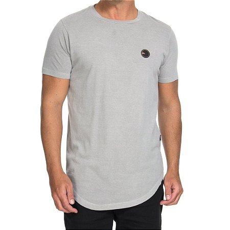 Camiseta Quiksilver Especial Scallop Patch Cinza Claro