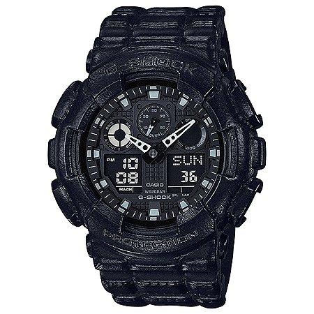 Relógio G-Shock GA-100BT-1ADR Preto