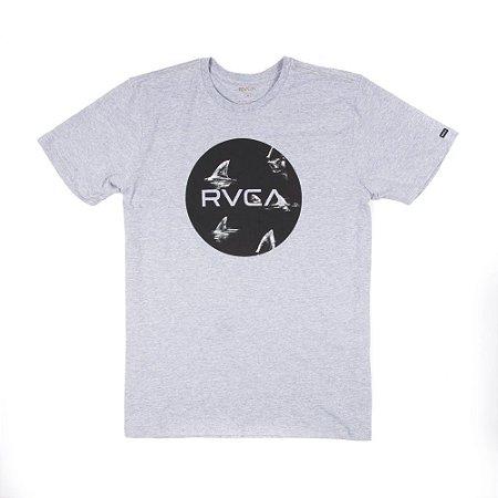 Camiseta RVCA Motors Fill Up Cinza