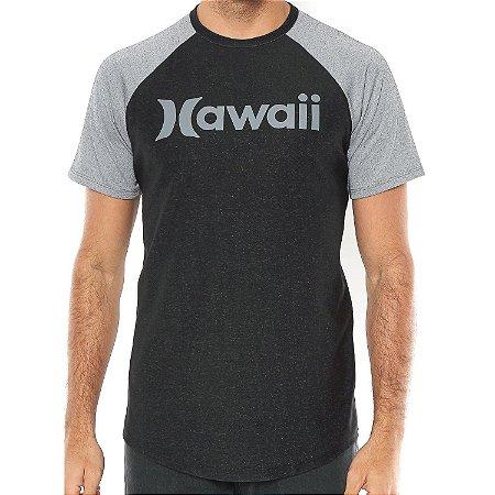 Camiseta Hurley Especial Hawaii Preta/Cinza