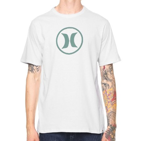 8df0dd675205e Camiseta Hurley Silk Circle Icon Branca - Radical Place - Loja ...