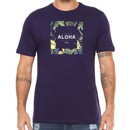 Camiseta Hurley Silk Hawaii Hunt Roxa