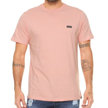 Camiseta Hurley Silk Basic Rosa