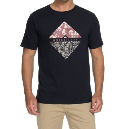 61ab82104d931 Camiseta Quiksilver Flower Dot Preta - Radical Place - Loja Virtual ...