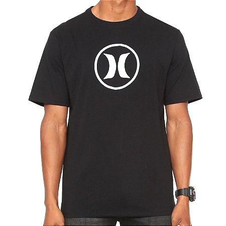 Camiseta Hurley Silk Circle Icon Preta