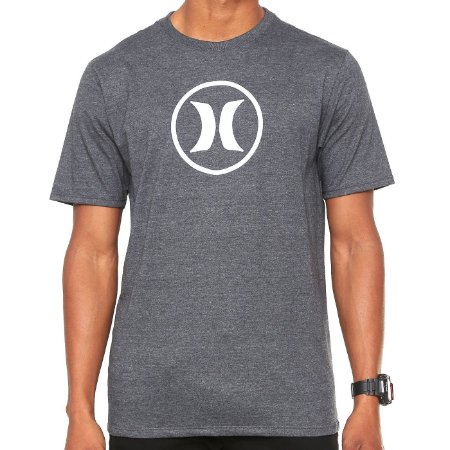 Camiseta Hurley Silk Circle Icon Cinza Escuro