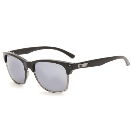 Óculos de Sol HB Slam Fish Gloss Black | Flash Mirror