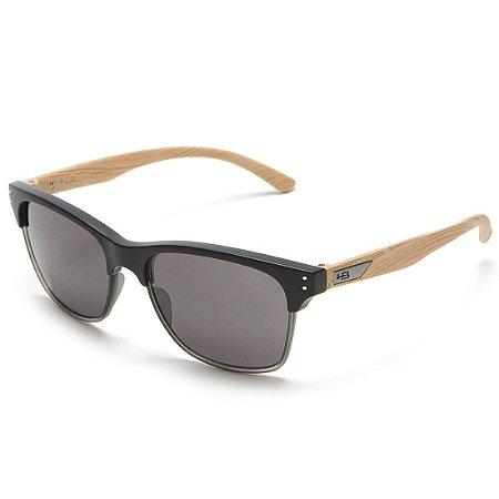 Óculos de Sol HB Slam Fish Matte Black / Wood l Gray
