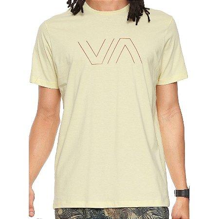 Camiseta RVCA VA Outline Amarela