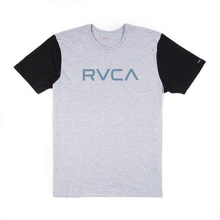 Camiseta RVCA Big RVCA Bi Color Cinza/Preta
