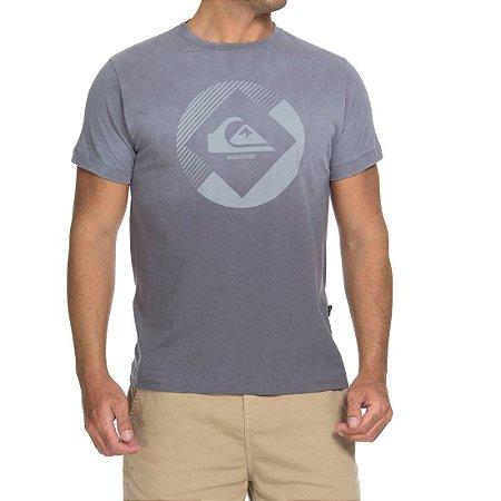 Camiseta Quiksilver Especial Degra Logo Cinza