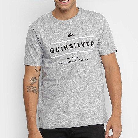 Camiseta Quiksilver Reverso Surfo Cinza