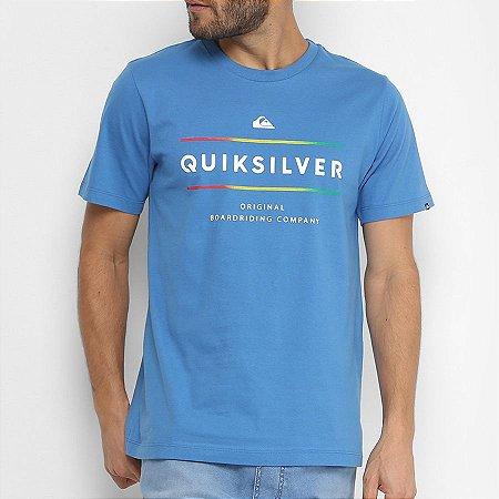 Camiseta Quiksilver Reverso Surfo Azul
