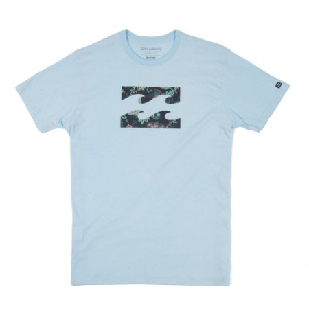 Camiseta Billabong Team Wave V Azul Claro