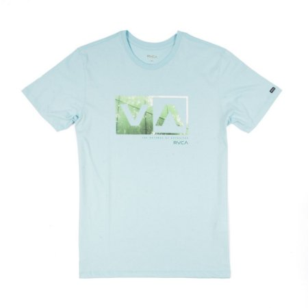 Camiseta RVCA Reflection Box Azul Claro