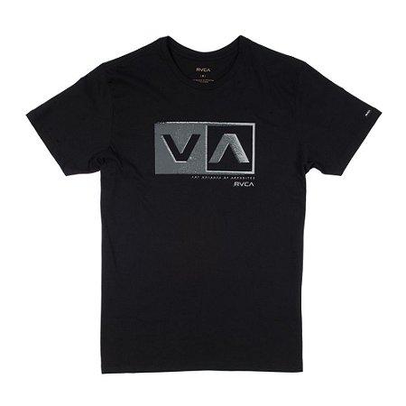 Camiseta RVCA Static Box Preta