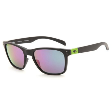 Óculos de Sol HB Gipps II  Matte Black Dark Green l Green Chrome