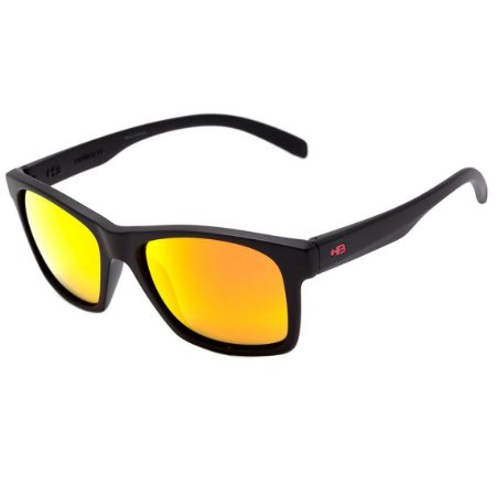 Óculos de Sol HB Unafraid Matte Black | Polarized Red