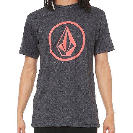 Camiseta Volcom Silk Circle Stone Preto Mescla