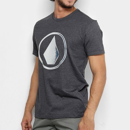 Camiseta Volcom Silk Removed Preto Mesclas