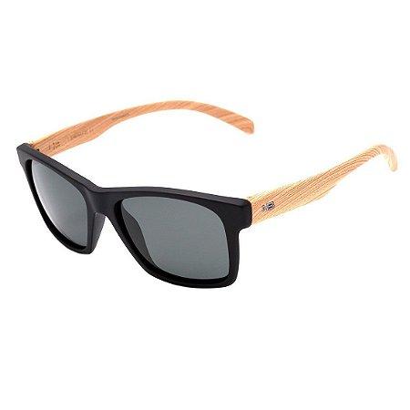 Óculos de Sol HB Unafraid Matte Black / Wood | Polarized Gray