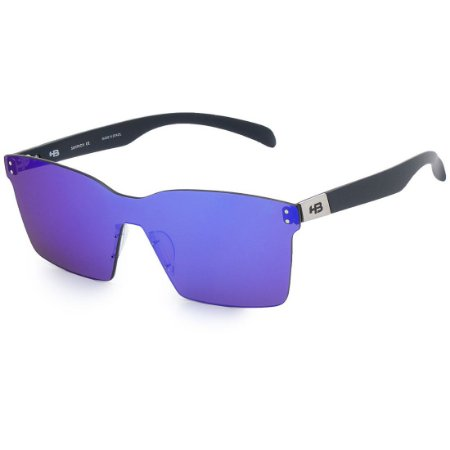 Óculos de Sol HB Nevermind Mask Matte Navy I Blue Chrome