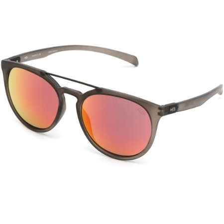 Óculos de Sol HB Burnie Matte Onyx   Red Chrome