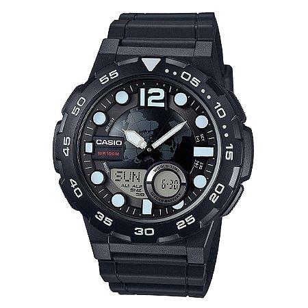 89c5e7cccc8 Relógio Casio Standard AEQ-100W-1AVDF Preto - Radical Place - Loja ...