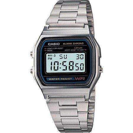 37cf4136f59 Relógio Casio Vintage A158WA-1DF Prata - Radical Place - Loja ...