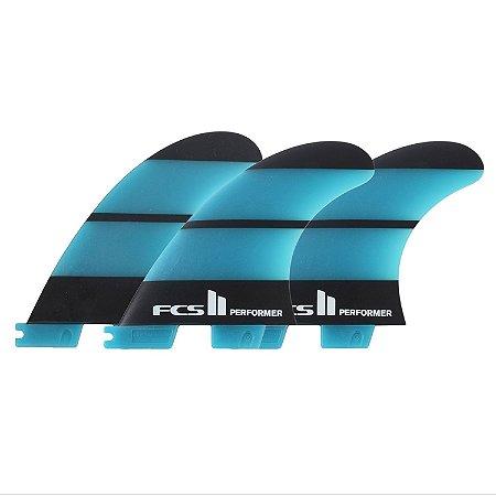 Quilha FCS II Performer Média Neo Glass Azul