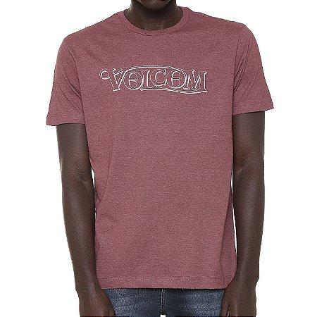 Camiseta Volcom Silk Straight Up Vinho Mescla