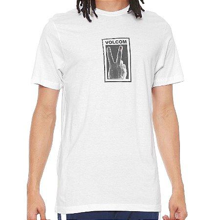 Camiseta Volcom Silk Slim Peace Branco
