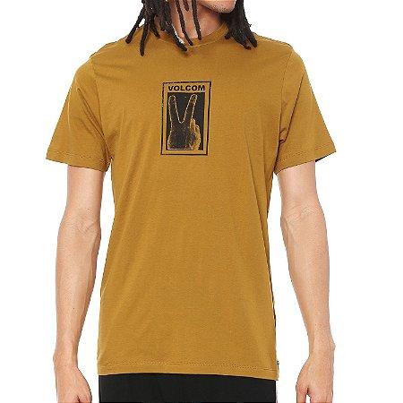 Camiseta Volcom Silk Slim Peace Caqui