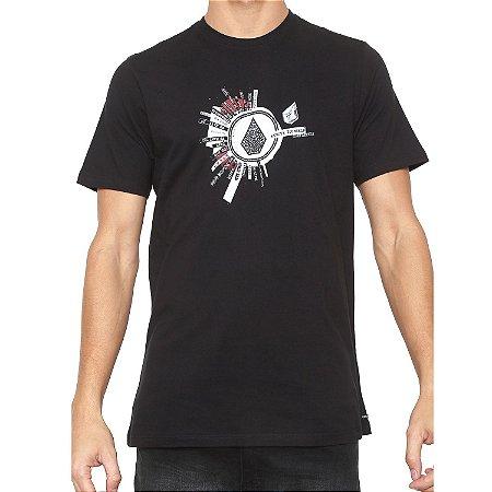 Camiseta Volcom Silk Slim Radiate Preta