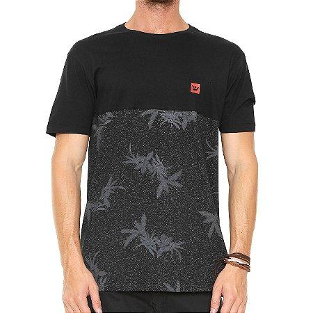 Camiseta Hang Loose Especial Flor Preta