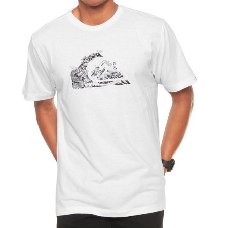 Camiseta Quiksilver Japan Logo Branca