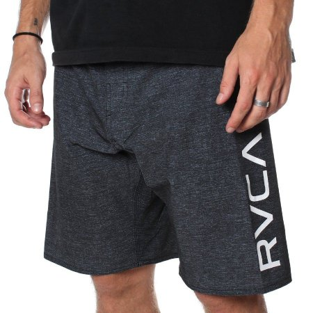 Bermuda RVCA Boardshort Big RVCA Preta