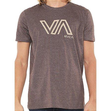 Camiseta RVCA Stencil VA Marrom