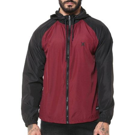 Jaqueta Hurley Windbreaker Speed Vinho/Preto