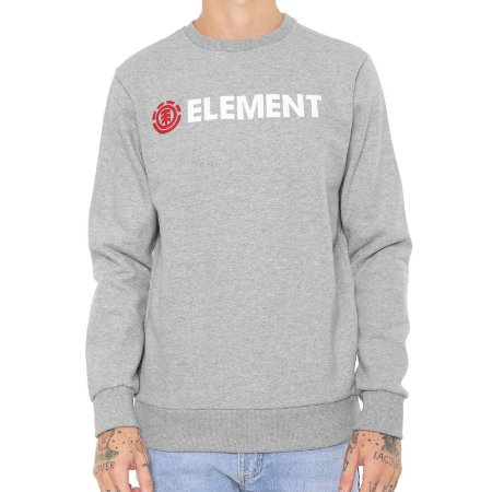 Moletom Element Basic Essencial Cinza