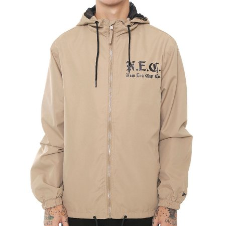 Jaqueta New Era Windbreaker Cities NEC Caqui