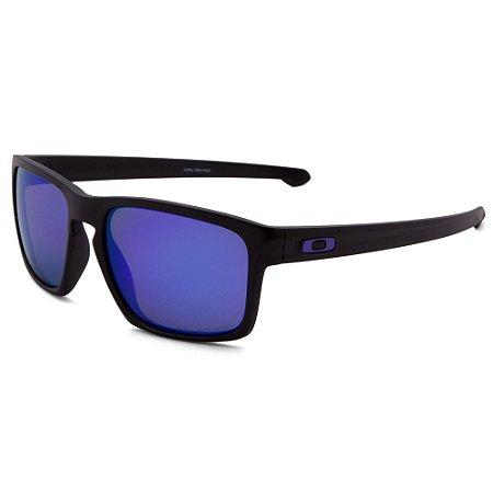 Óculos de Sol Oakley Sliver Matte Black W/ Violet Iridium Polarized