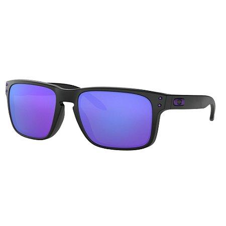 Óculos de Sol Oakley Holbrook Julian Wilson Matte Black W/ Violet Iridium