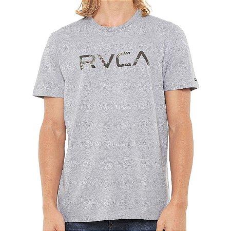 Camiseta RVCA MC Floral Cinza