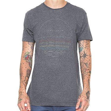 Camiseta Hang Loose Silk Finetype Cinza Escuro
