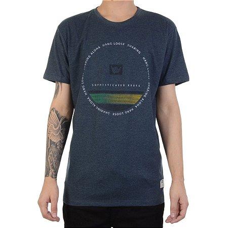 Camiseta Hang Loose Silk Circlestripe Azul Mescla