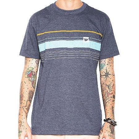 Camiseta Hang Loose Silk Striped Azul Mescla