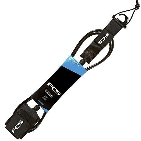 Leash FCS 6' - 7mm Essential Regular Preto