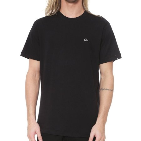 Camiseta Quiksilver Chest Embroidery Preta