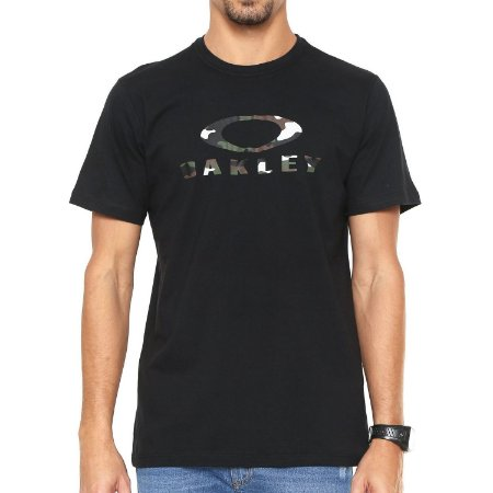 Camiseta Oakley O-Bark Preta